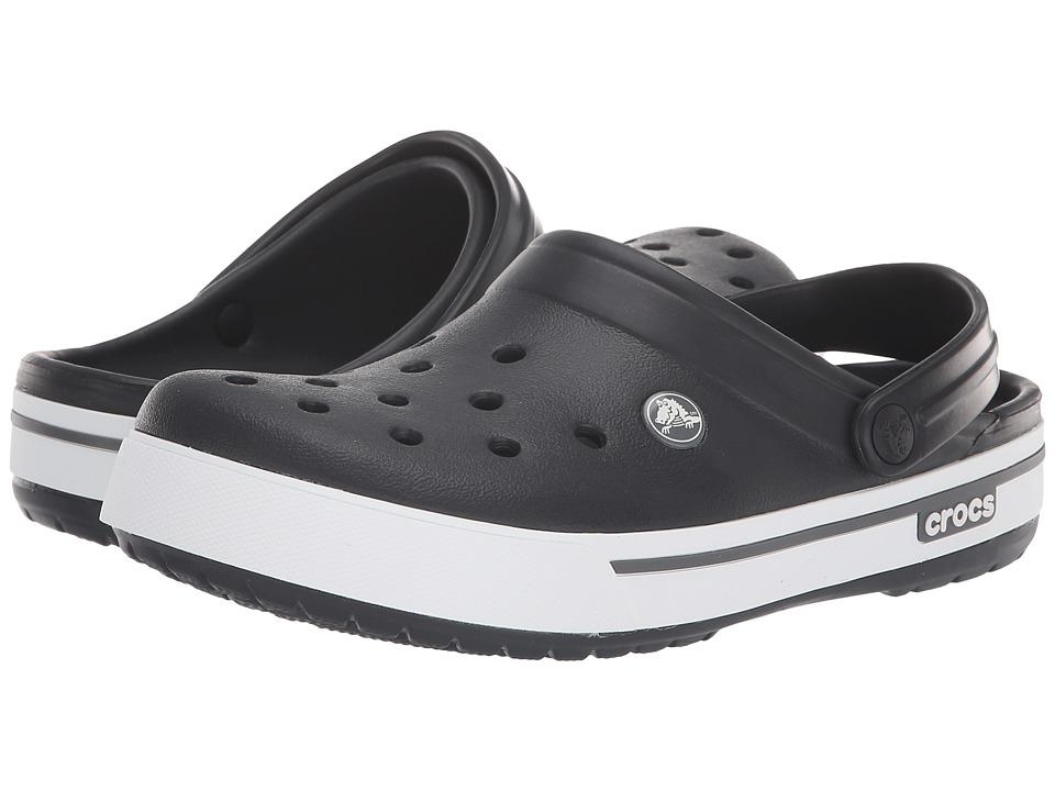 Crocs Crocband II.5 Clog (Black/Charcoal) Clog Shoes