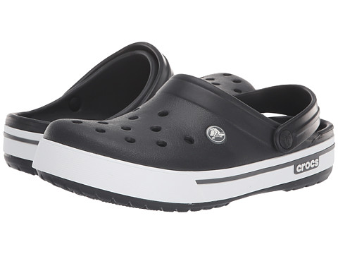Crocs - Crocband II.5 Clog (Black/Charcoal) Clog Shoes