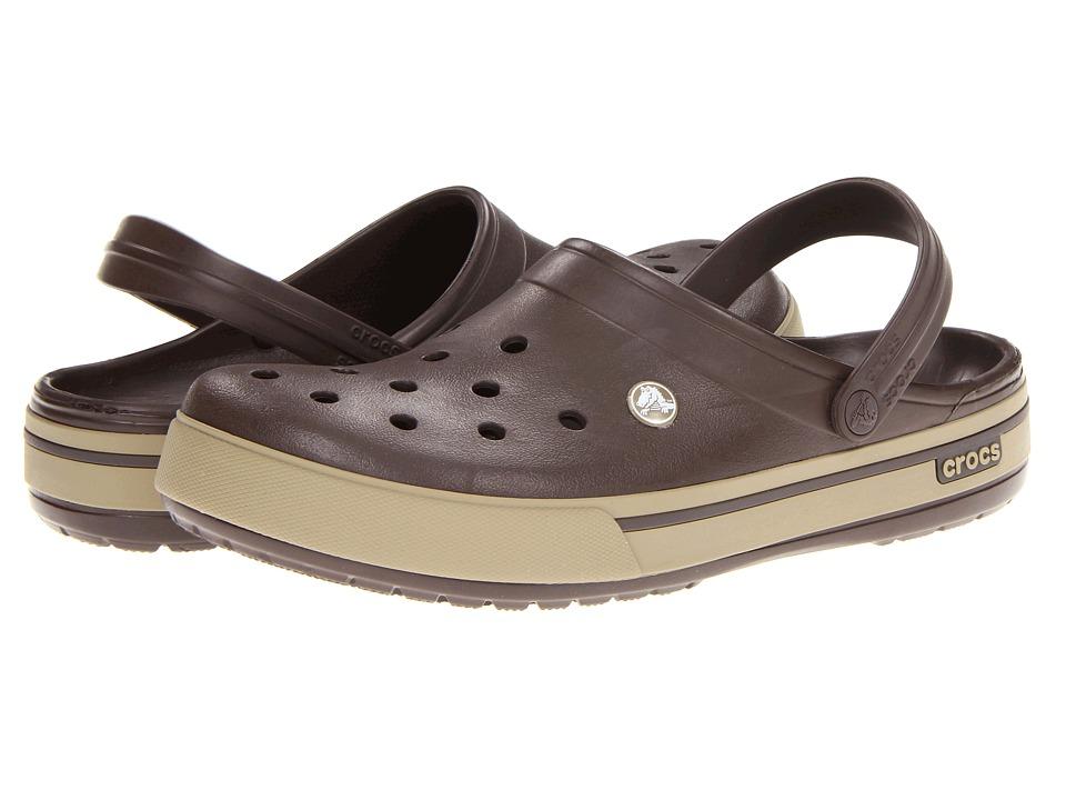 Crocs - Crocband II.5 Clog (Espresso/Khaki) Clog Shoes