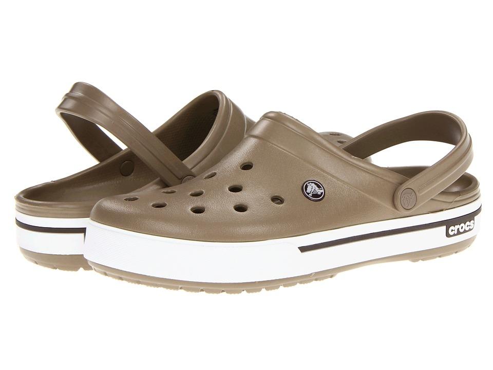 Crocs - Crocband II.5 Clog (Khaki/Espresso) Clog Shoes