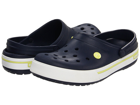 Crocs - Crocband II.5 Clog (Navy/Citrus) Clog Shoes