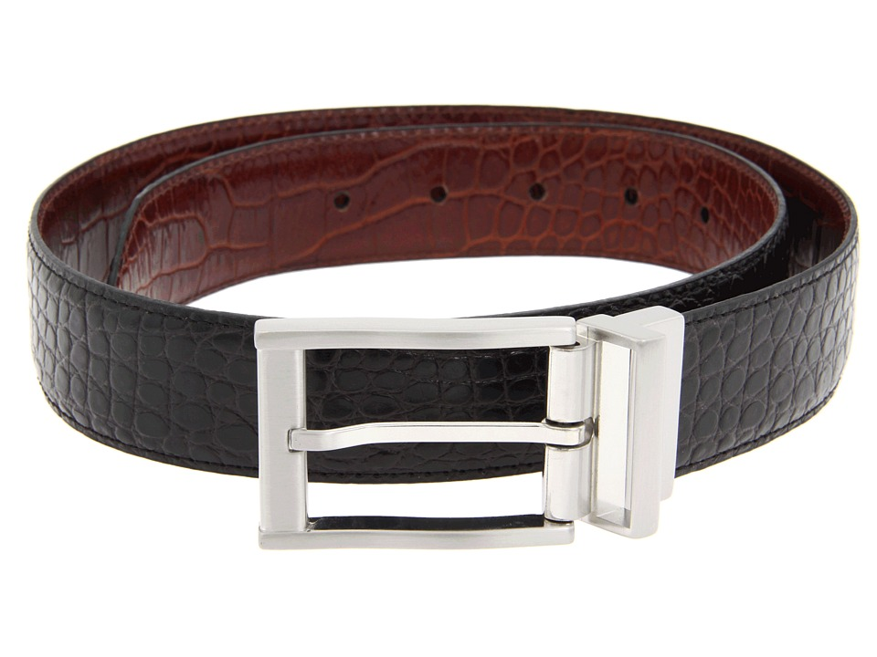 Nike - Croco Reversible (Black/Brown) Men's Belts