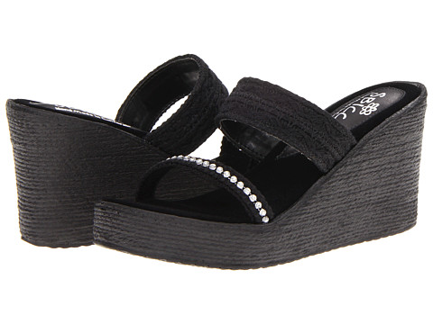 Sbicca - Vixen (Black) Women's Wedge Shoes