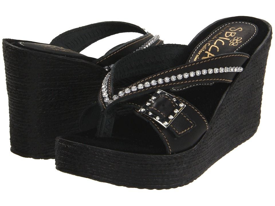 Sbicca - Horizon (Black) Women's Wedge Shoes