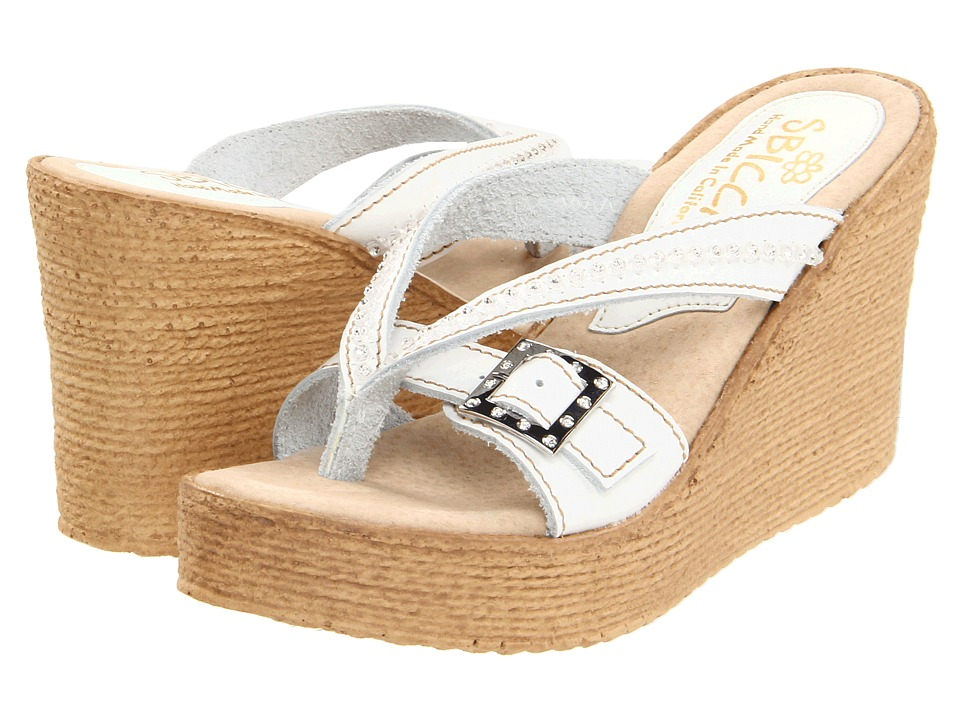 Sbicca - Horizon (White) Women's Wedge Shoes