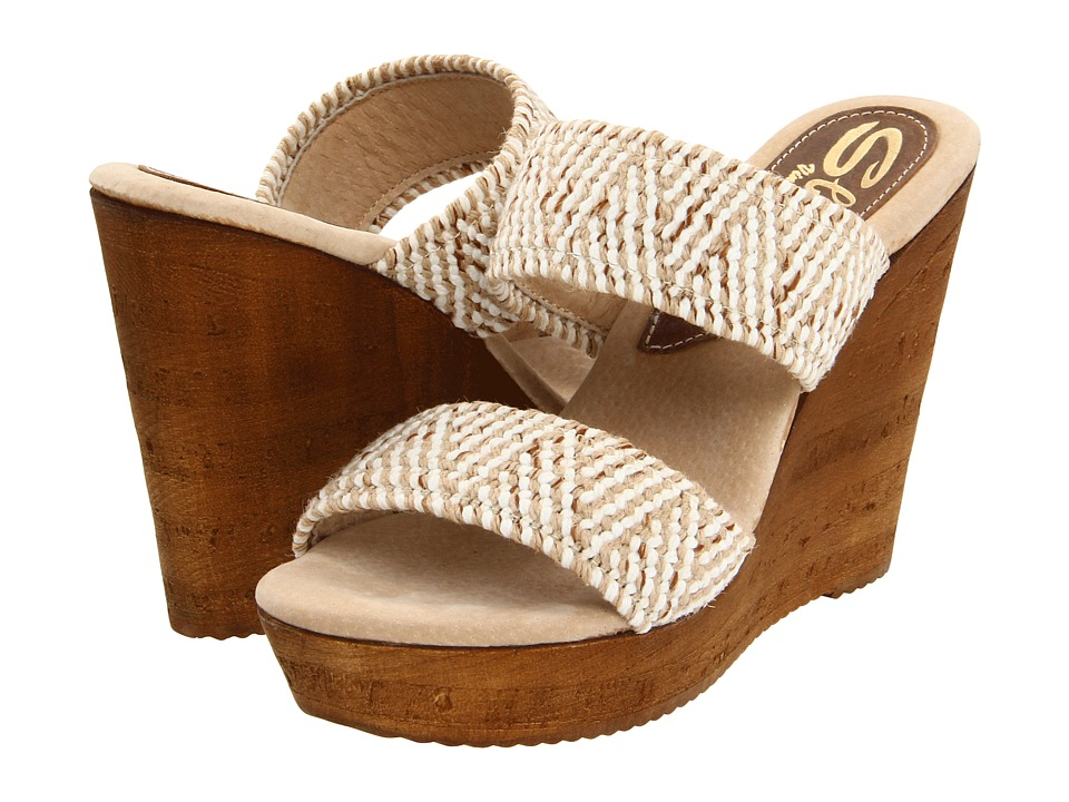 Sbicca - Tristan (Beige) Women's Wedge Shoes