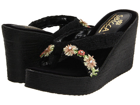 Sbicca - Vine (Black) Women's Wedge Shoes