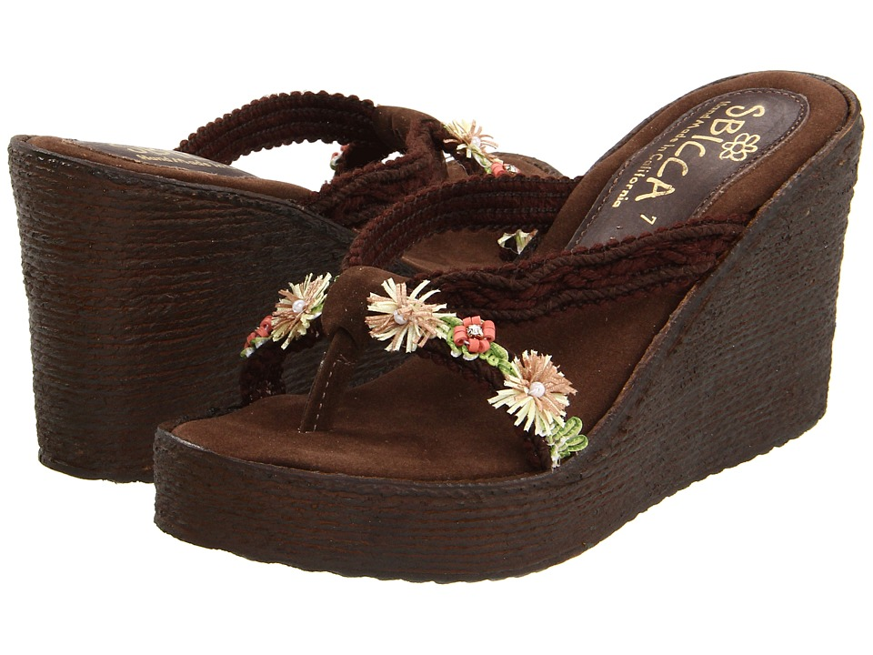 Sbicca - Vine (Brown) Women's Wedge Shoes