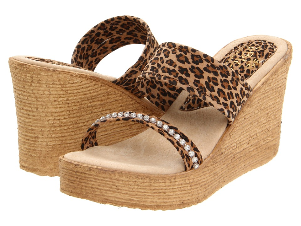 Sbicca - Vixen Animal (Tan Leopard) Women's Wedge Shoes