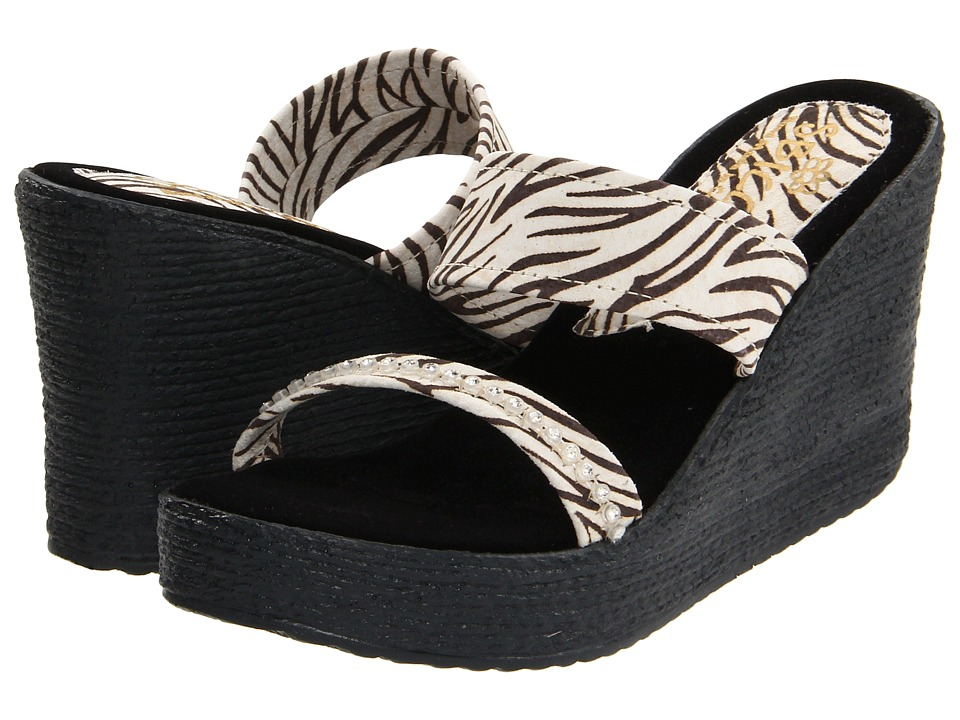 Sbicca - Vixen Animal (Black/White/Zebra) Women