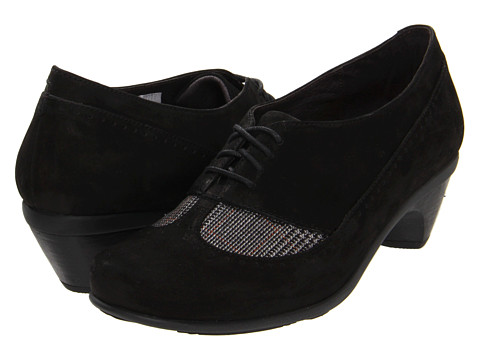 Naot Footwear - Retro (Black Velvet Nubuck/Grey Tweed) High Heels