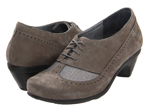 Naot Footwear - Retro (Slate Nubuck/Grey Herringbone) High Heels