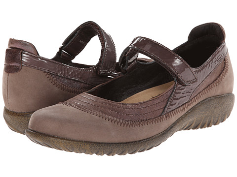 Naot Footwear - Kirei (Porcini Leather/Shiitake Nubuck/Shiitake Patent Leather) Women's Maryjane Shoes