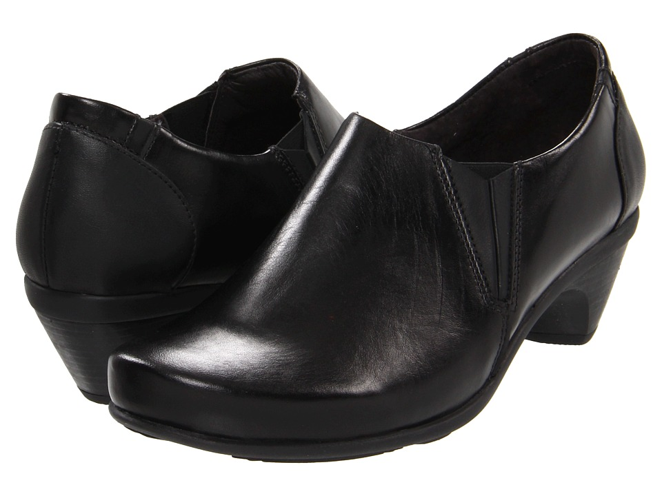 Naot Footwear - Express (Jet Black Leather/Black Madras Leather) High Heels