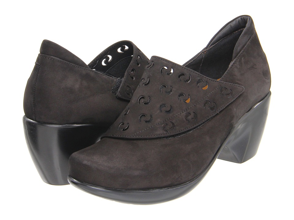 Naot Footwear Precious (Black Velvet Nubuck) High Heels