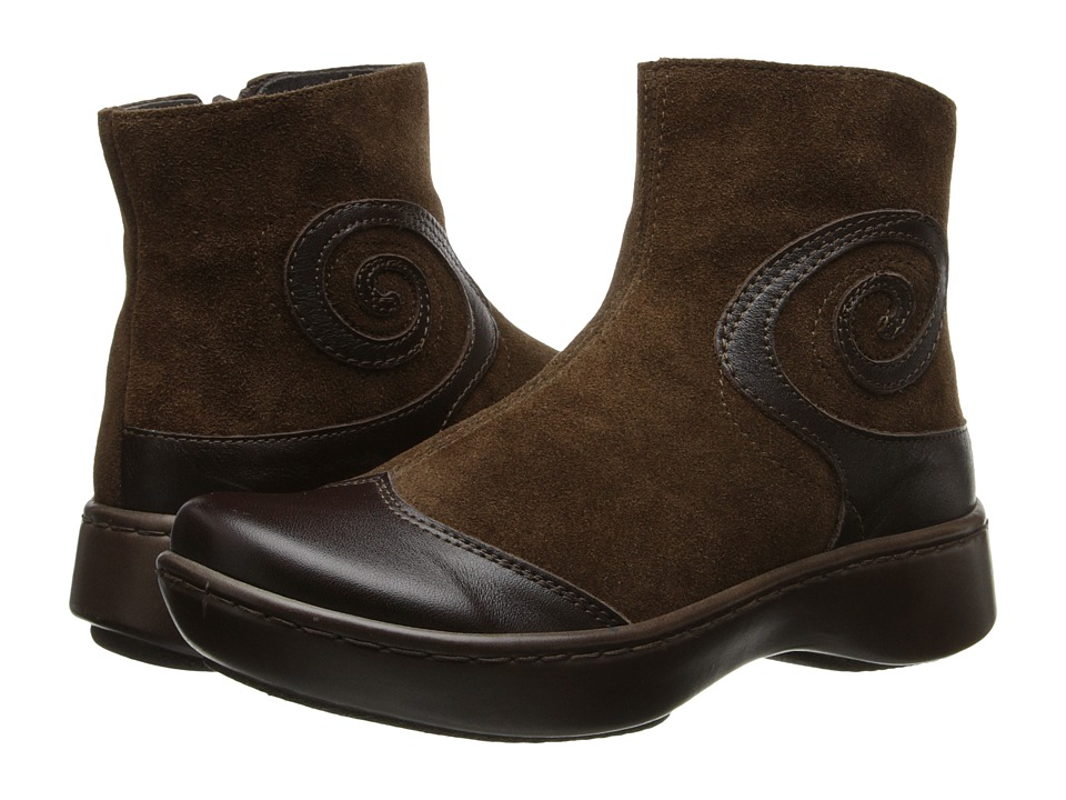 Naot Footwear - Oyster (Oak Leather/Hash Suede) Women's Zip Boots