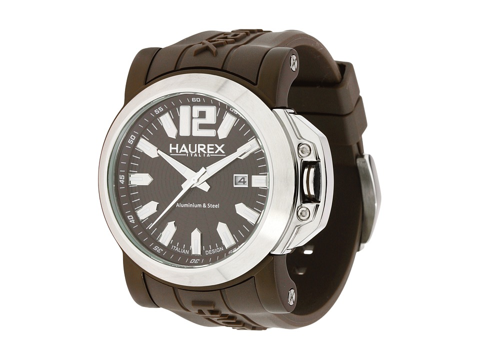 Haurex Italy - 1D370UMM San Marco Watch (Brown/Silver) Sport Watches