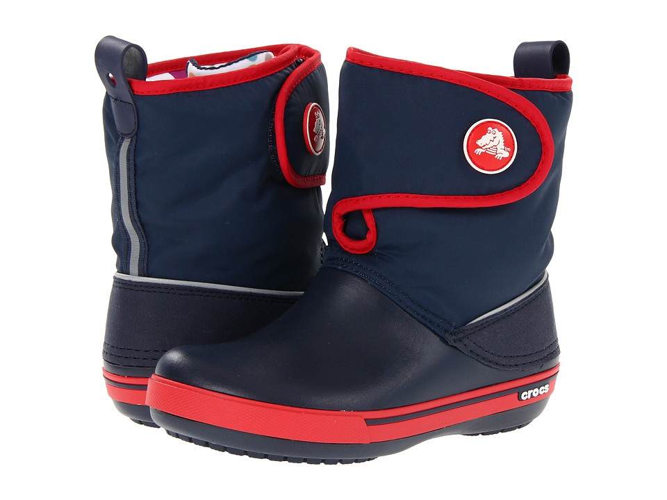 Crocs Kids - Crocband II.5 Gust Boot (Toddler/Little Kid) (Navy/Red) Kids Shoes
