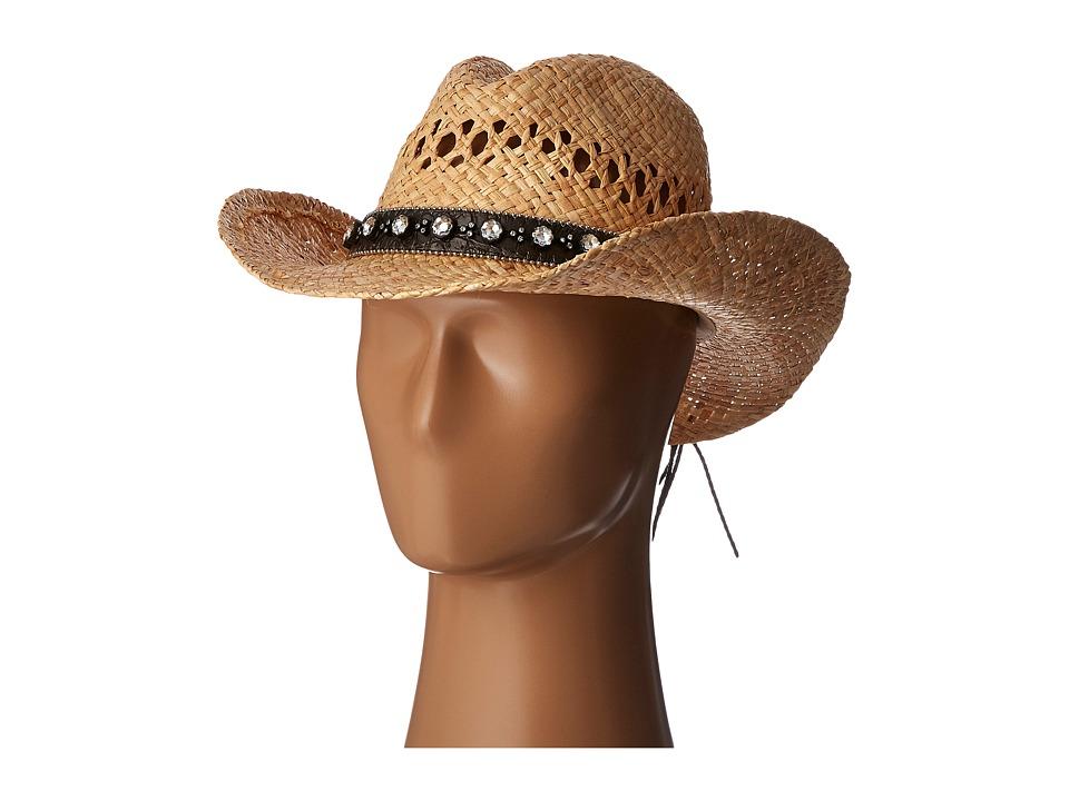 M&F Western - 7109901 (Black Raffia) Cowboy Hats