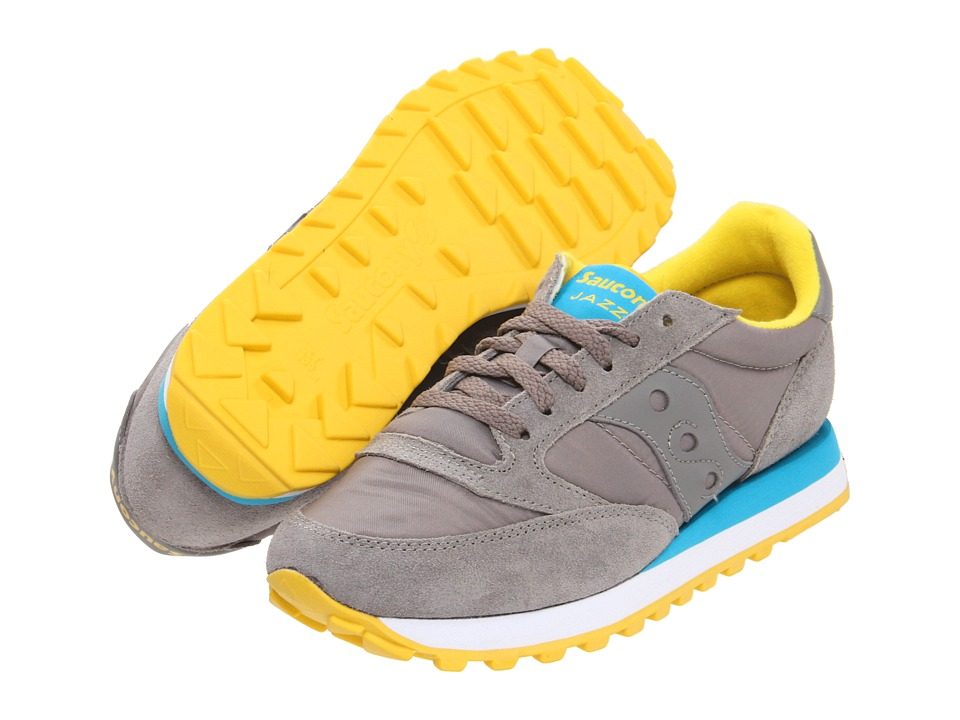 Saucony Originals - Jazz Original (Grey/Blue/Yellow) Women