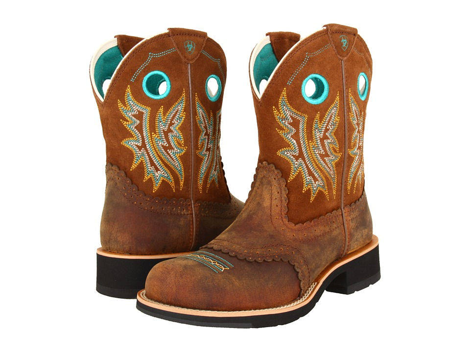 Ariat - Fatbaby Sheila (Powder Brown/Tan) Cowboy Boots