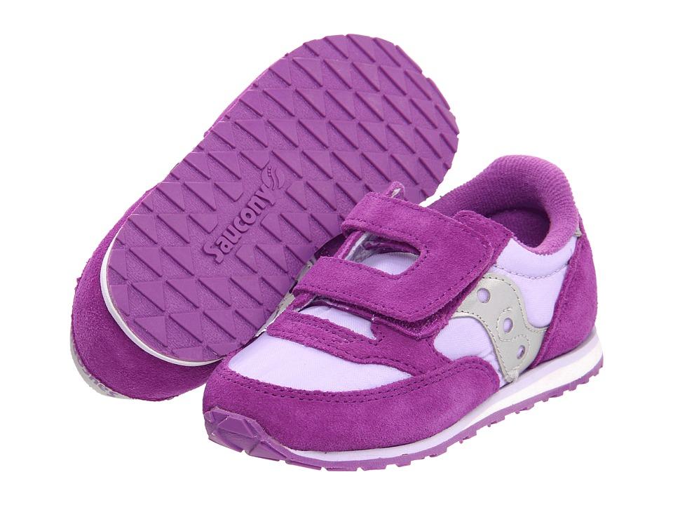 Saucony Kids - Jazz HL (Toddler/Little Kid) (Purple/Violet/Silver) Kids Shoes