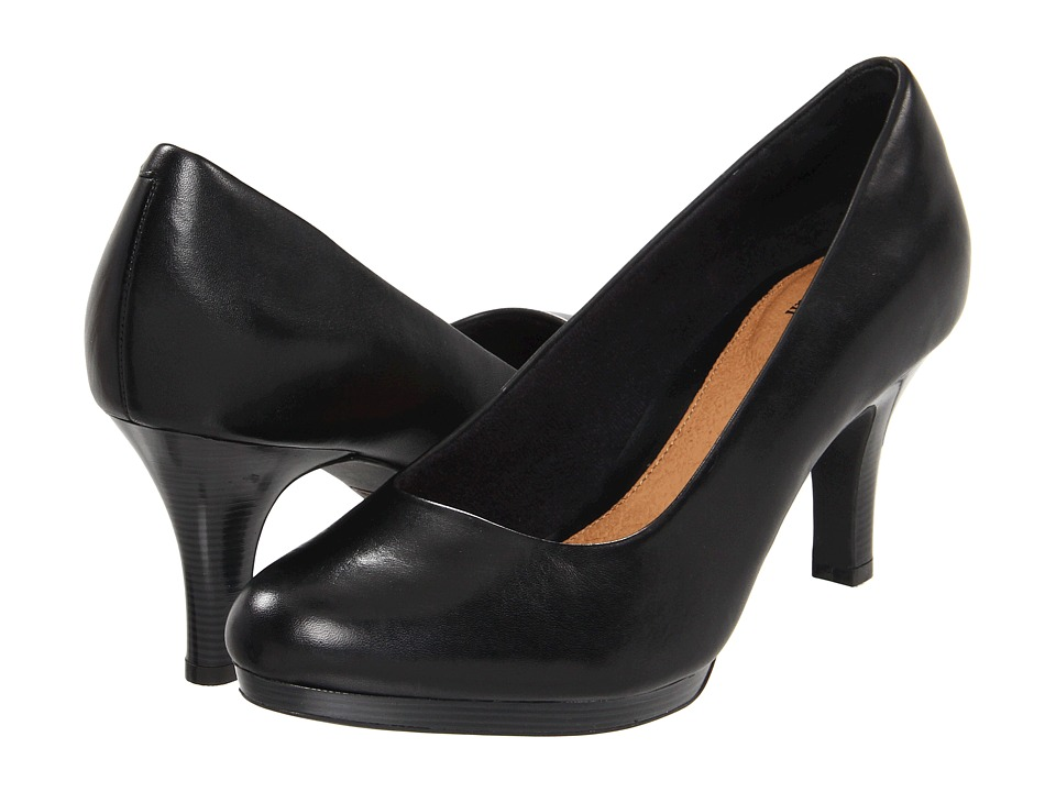 Clarks - Tempt Appeal (Black Leather) High Heels