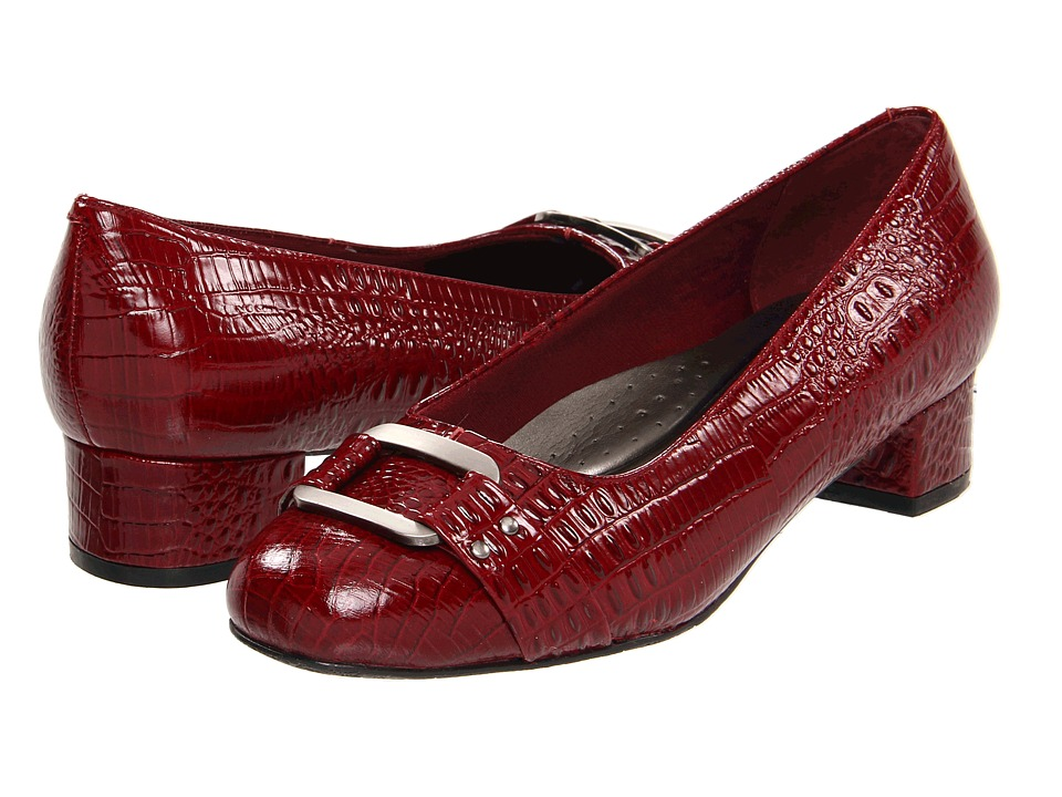 Trotters - Doris Signature (Dark Red Croco Patent) Women