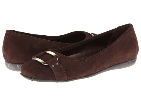 Trotters - Sizzle Signature (Dark Brown Kid Suede) Women's Flat Shoes