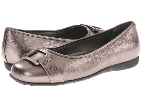 Trotters - Sizzle Signature (Pewter Metallic Soft Tumbled Leather) Women