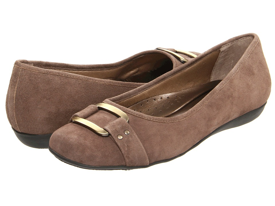 Trotters - Sizzle Signature (Taupe Kid Suede) Women's Flat Shoes