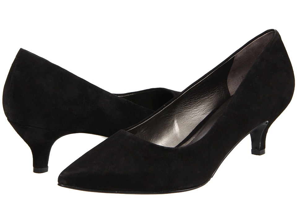 Trotters - Paulina (Black Kid Suede) Women's 1-2 inch heel Shoes