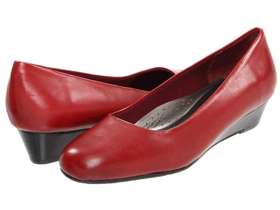 Trotters - Lauren (Dark Red Burnished Soft Kid) Women's Wedge Shoes