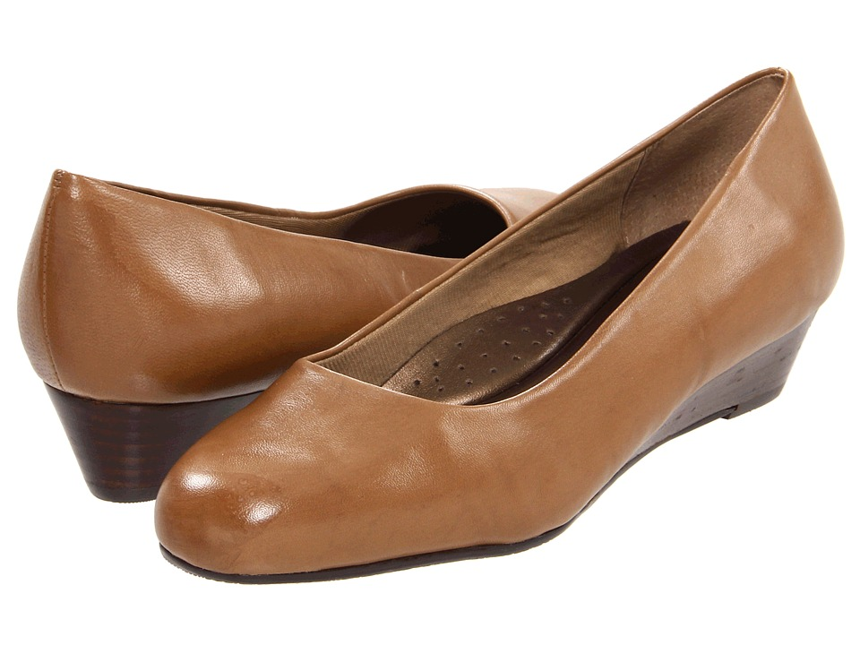 Trotters - Lauren (Dark Taupe Burnished Soft Kid) Women's Wedge Shoes