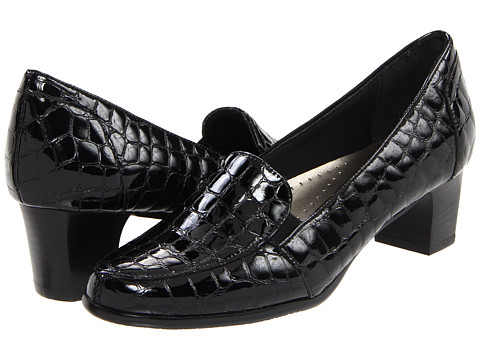 Trotters - Gloria Croco (Black Croco Patent) Women