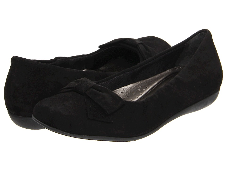 Trotters - Sonia (Black Kid Suede) Women's Shoes