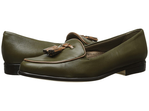 Trotters - Leana (Loden/Tan Burnished Soft Kid/Patent Man Made) Women's Slip on Shoes