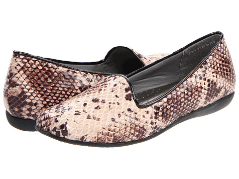Trotters - Tosha (Taupe Snake Embossed) Women's Slip on Shoes
