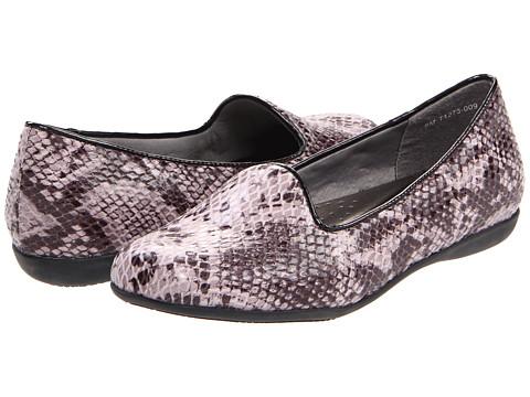Trotters - Tosha (Black Snake Embossed) Women's Slip on Shoes