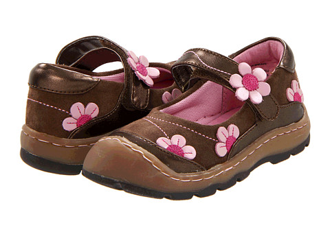 Jumping Jacks Kids - Flower Breeze (Toddler/Little Kid) (Brown Suede w/ Chocolate, Fuchsia & Pink Trim) Girls Shoes