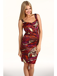 SALE! $46.99 - Save $111 on Jax Satin Printed Dress (Burgandy Multi) Apparel - 70.26% OFF $158.00