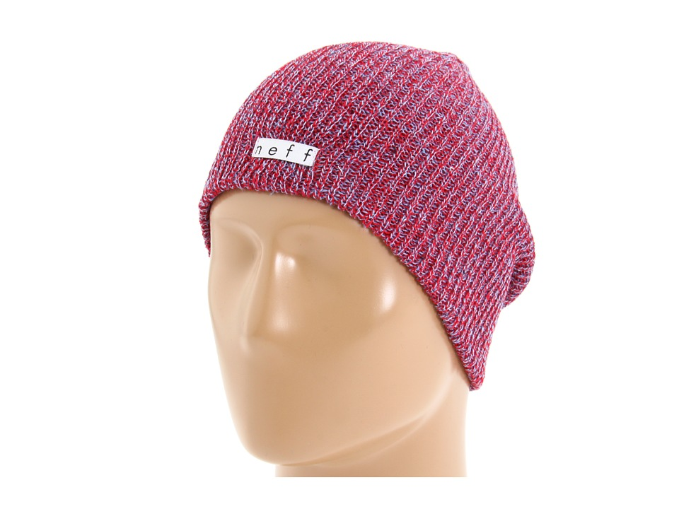 Neff - Daily Heather Beanie (Red/Blue) Beanies