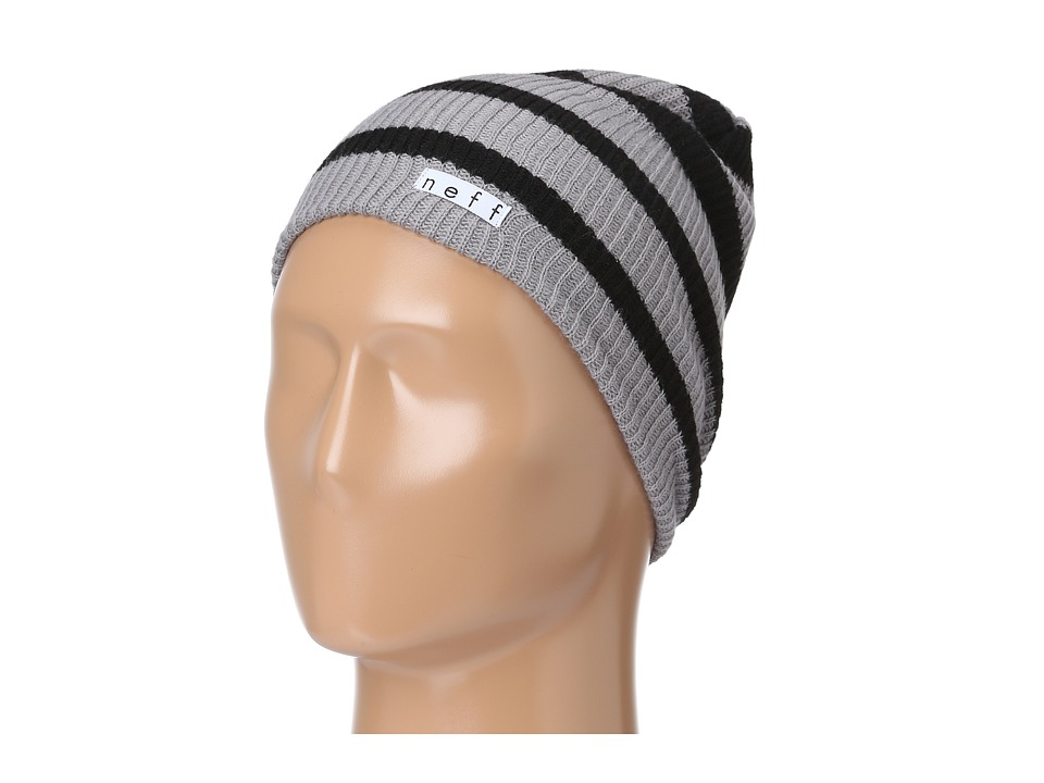 Neff - Daily Stripe Beanie (Grey/Black) Beanies