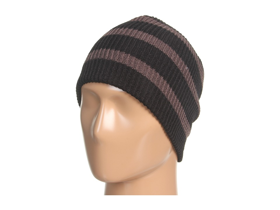 Neff - Daily Stripe Beanie (Black/Charcoal) Beanies