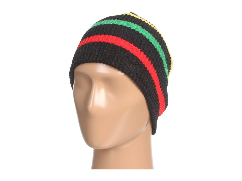 Neff - Daily Stripe Beanie (Black/Rasta) Beanies