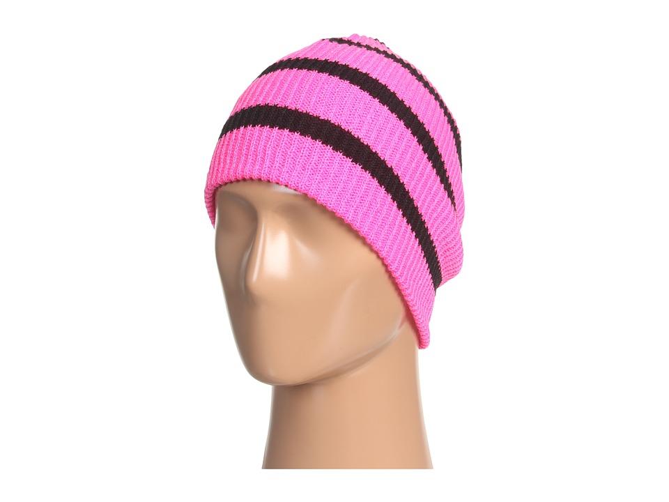 Neff - Daily Stripe Beanie (Pink/Black) Beanies