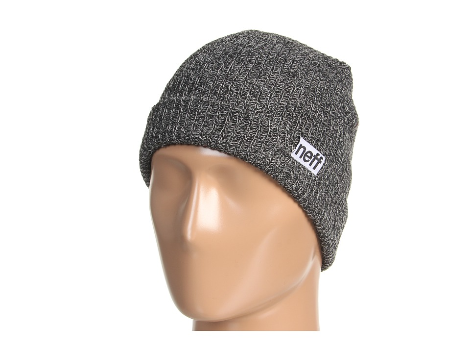 Neff - Fold Heather Beanie (Black/Grey) Beanies