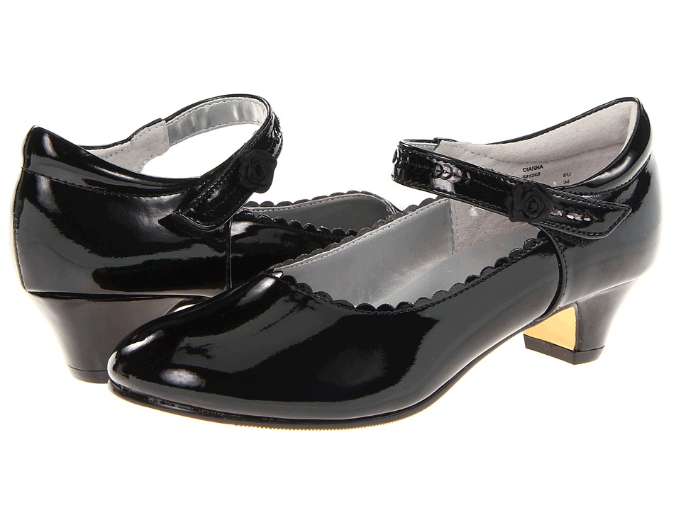 Jumping Jacks Kids - Dianna (Little Kid/Big Kid) (Black Shiny) Girls Shoes