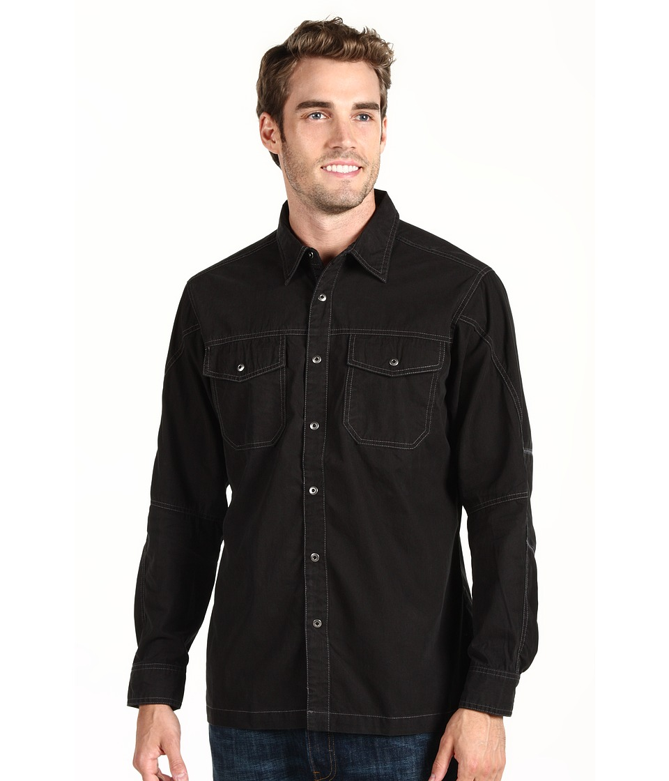 Kuhl - FlakJak L/S Shirt (Black) Men's Clothing