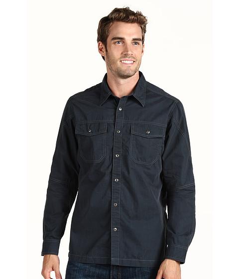 Kuhl - FlakJak L/S Shirt (Navy/Grey) Men's Clothing